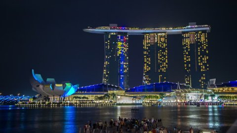 Timelapse of Marina Bay Lightshow in Singapore