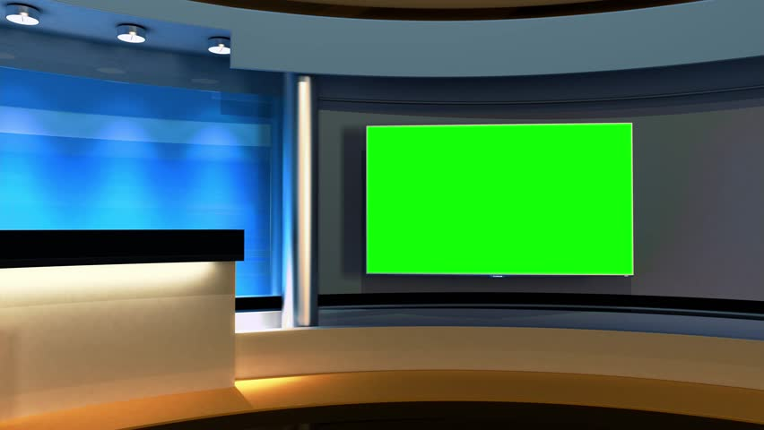 Studio The perfect backdrop for any green screen or chroma key video production. Loop. 3D, 3D rendering
