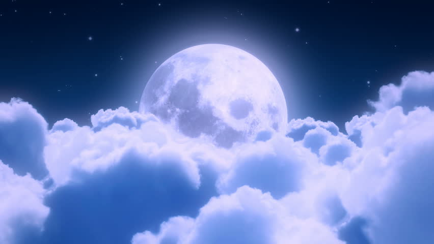 Night Clouds And Moon