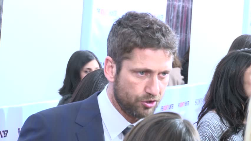 "NEW YORK, NEW YORK CIRCA MARCH 2010: Gerard Butler at the ""Bounty Hunter"" Premiere. 