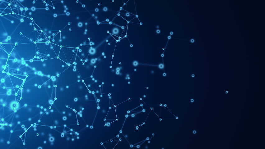 Abstract background with animation cloud network from connecting many users or data. Animation of seamless loop.
