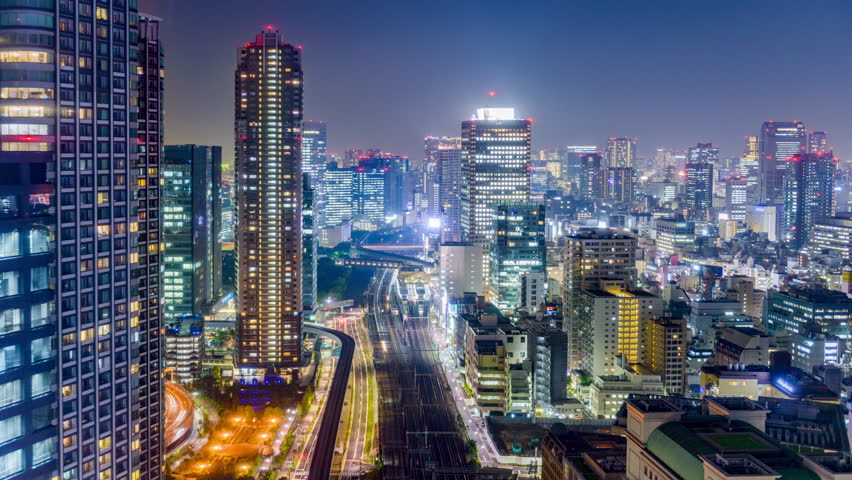 Tokyo, Japan Cityscape Time Lapse  Stock Footage Video (100% Royalty-free)  16958653   Shutterstock