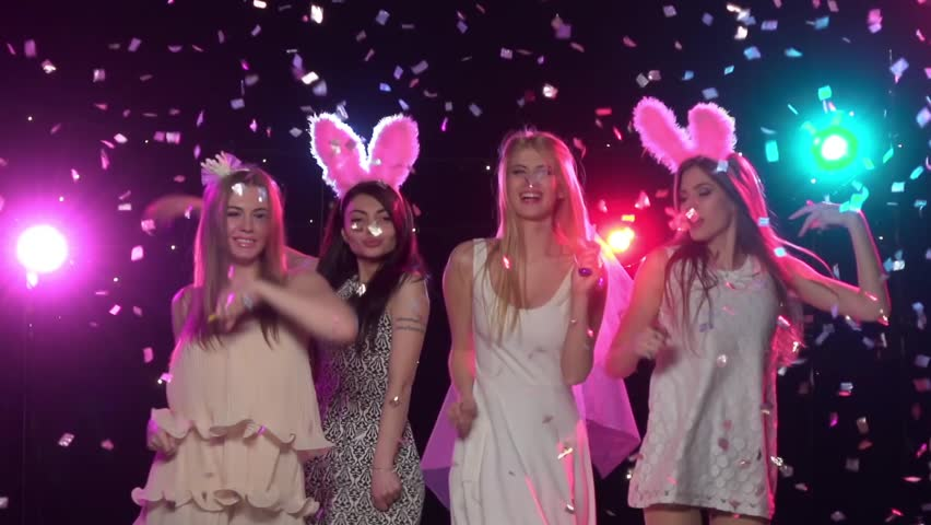 Video Stock A Tema Girls At Bachelorette Party Dancing 100 Royalty Free 16967563 Shutterstock