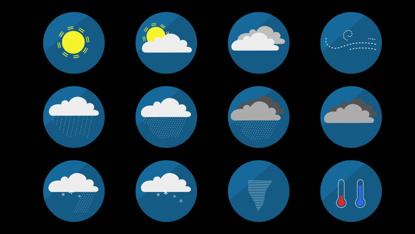 Weather Animated Set of Icons Stock Footage Video (100% Royalty-free)  17024053 | Shutterstock