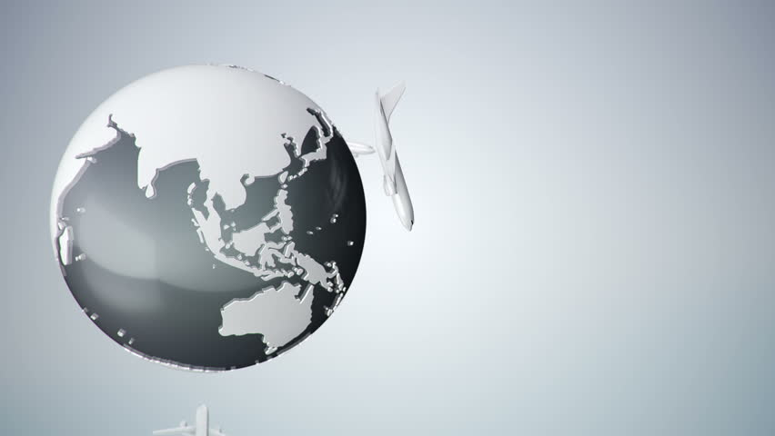 globe office chairs. animation of travel around the world in a plane routes flying globe office chairs