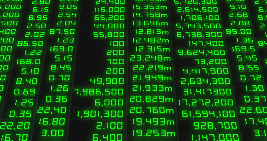 Stock market chart,Stock market data on LED display | Shutterstock HD Video #17026003