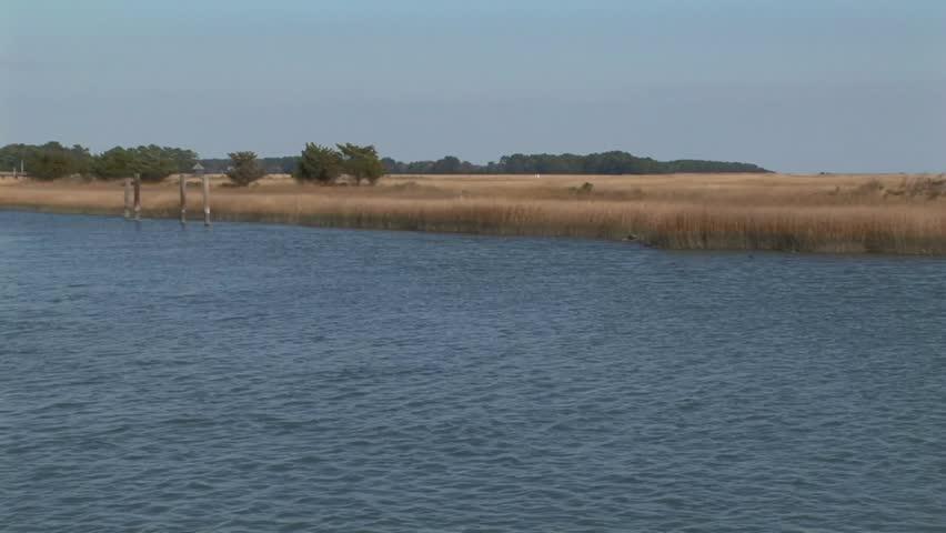 Marsh lagoons of Wachapreague, Accomack county Eastern shore of Virginia, USA