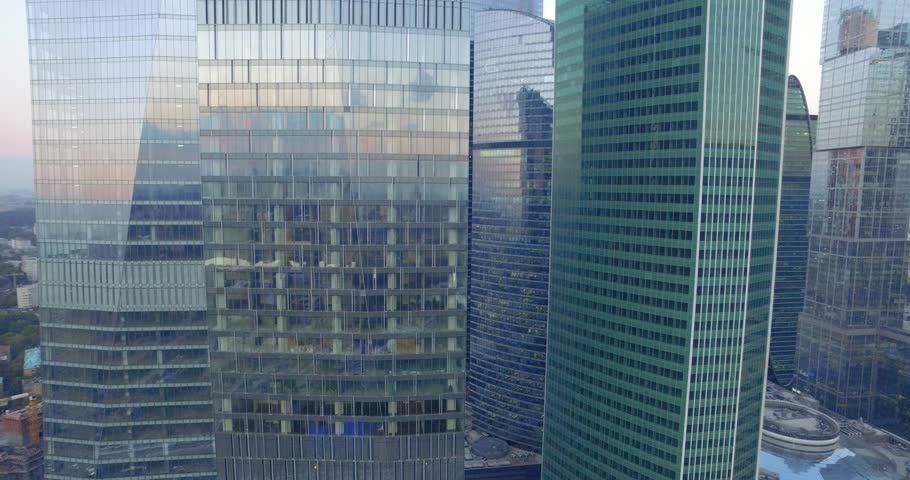 Modern Architecture Videos business modern architecture close up, texture windows of a high