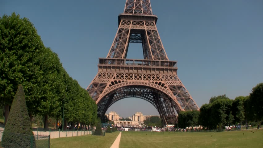 the world famous eiffel tower in natural light paris france europe stock footage video. Black Bedroom Furniture Sets. Home Design Ideas