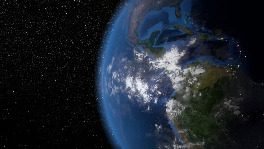 Earth rotation with the Sun. Night and Day.Elements of this image furnished by NASA.   Shutterstock HD Video #17107993
