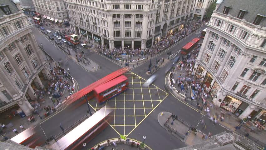 Oxford Street, London. Time lapse, HD