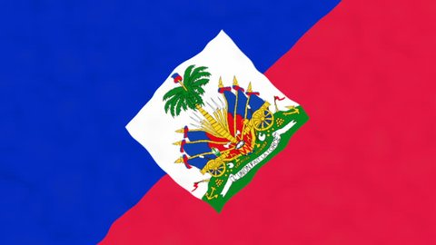 Flag of Haiti. Official Haiti flag. Waving Haiti flag. Copa America