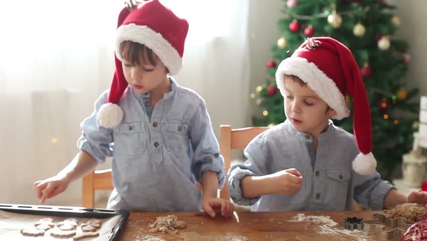Two Cute Boys With Santa Stock Footage Video 100 Royalty Free 17248423 Shutterstock
