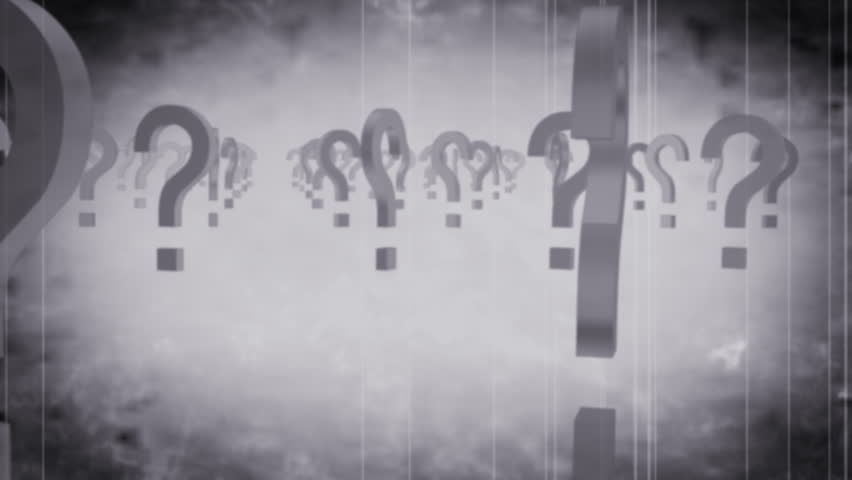 Question Mark Grunge Looping Animated Background