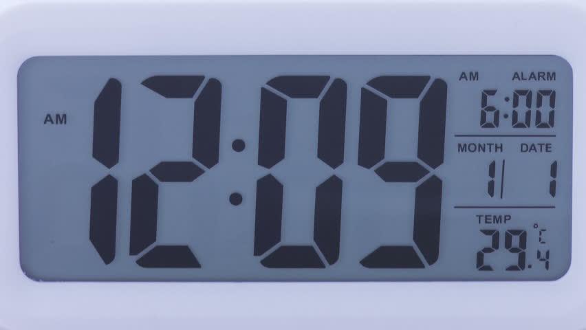 Digital clock time lapse