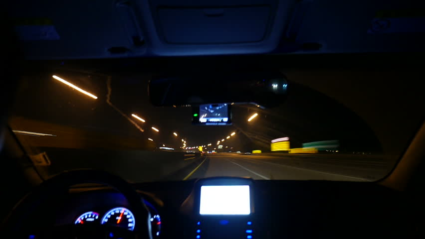 Driving Timelapse From Car Interior Driving On Highway At