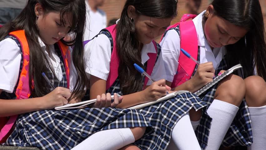 School Kids Students Studying | Shutterstock HD Video #17358133