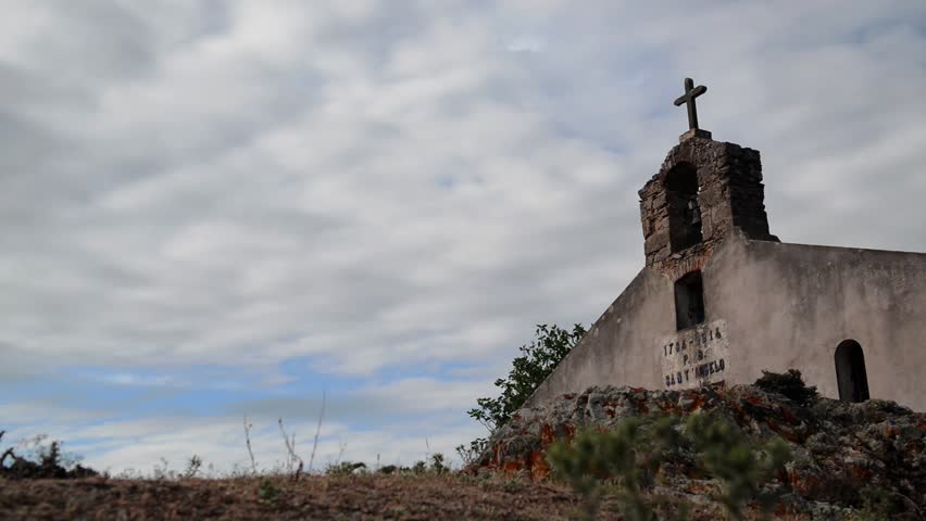 Stock Video Of Old Rural Church Abandoned Town In