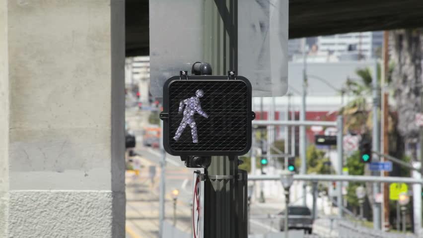pedestrian crosswalk sign changes