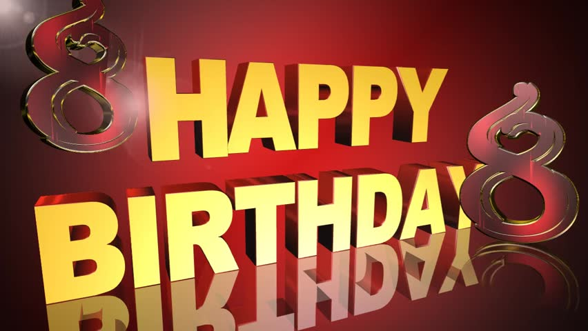 Stock Video Of Happy Birthday Greeting Card Video Animation