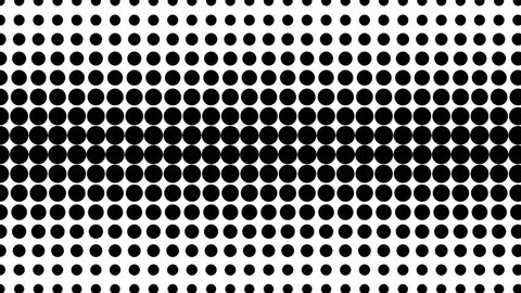 Dynamic black and white composition. Halftone element. Loop ready animation. 4K.
