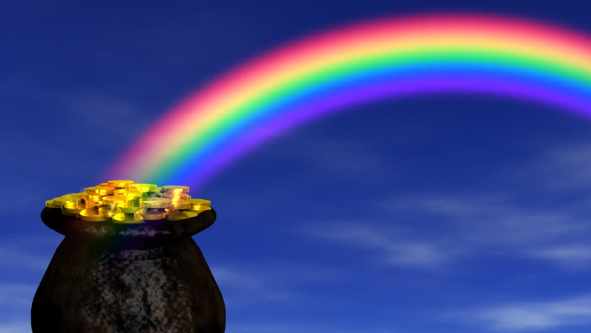 Pot of Gold at End Rainbow