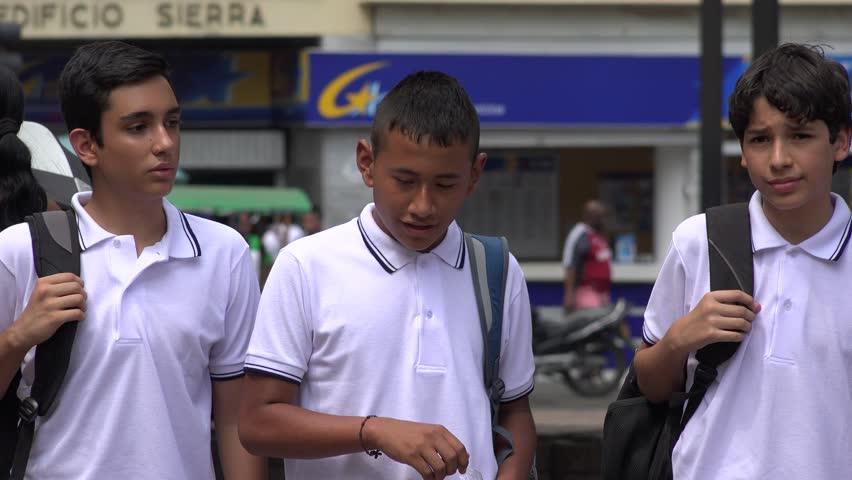 Male Teen Students Walking | Shutterstock HD Video #17499103