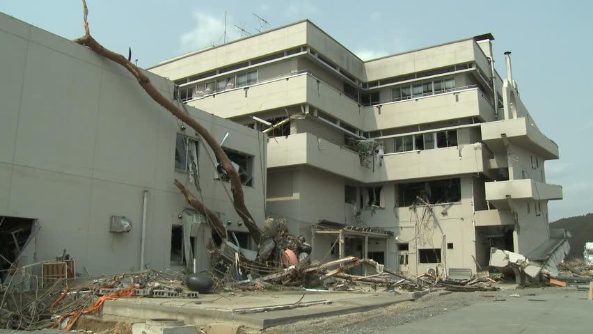 Tsunami Damage To Hospital In Japan