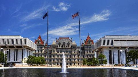 4K UltraHD Timelapse of the Albany legislature building