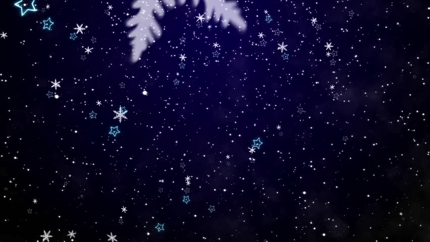 Snowflakes And Stars. New Year's - The Christmas Background Stock ...