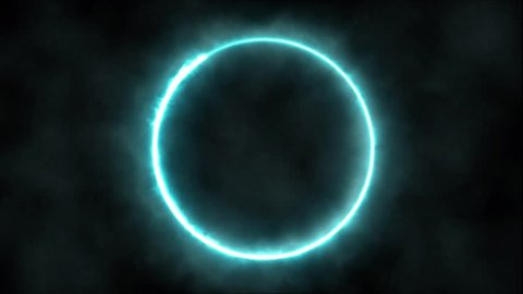 Plasma ring on a dark background. Animation. Abstract background.
