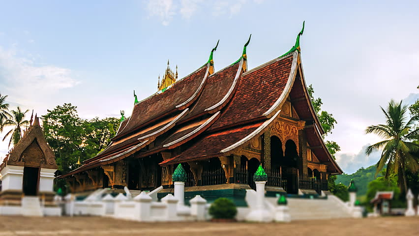 Wat Xieng Thong (Golden City Temple) in Luang Prabang, Laos. Xieng Thong temple is one of the most important of Lao monasteries.