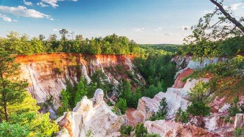 Providence Canyon Park in Georgia, USA.