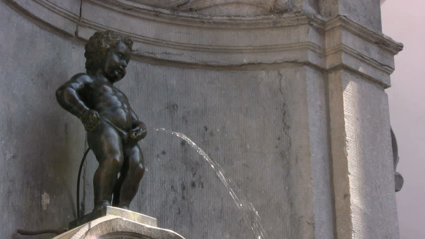 Fountain Manneken Pis, Brussels, Belgium