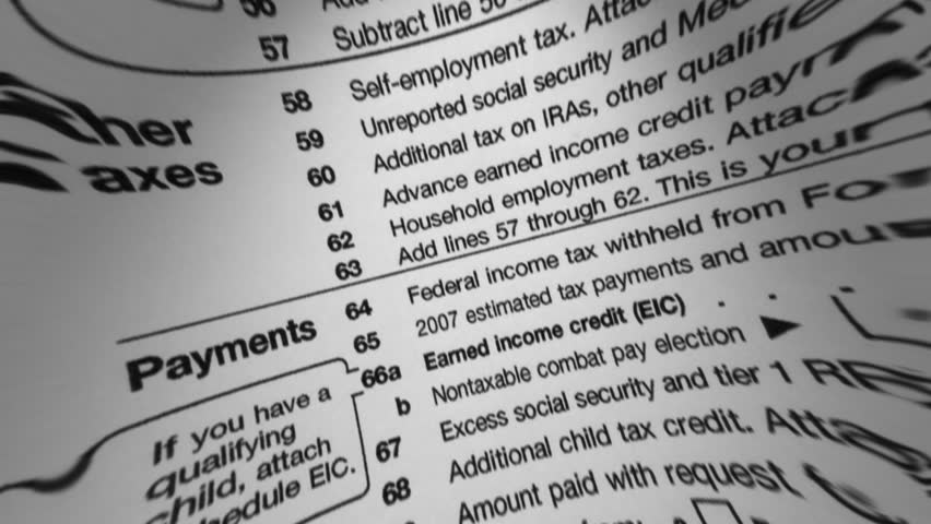 IRS W-4 Tax Form Macro Stock Footage Video 1753025   Shutterstock