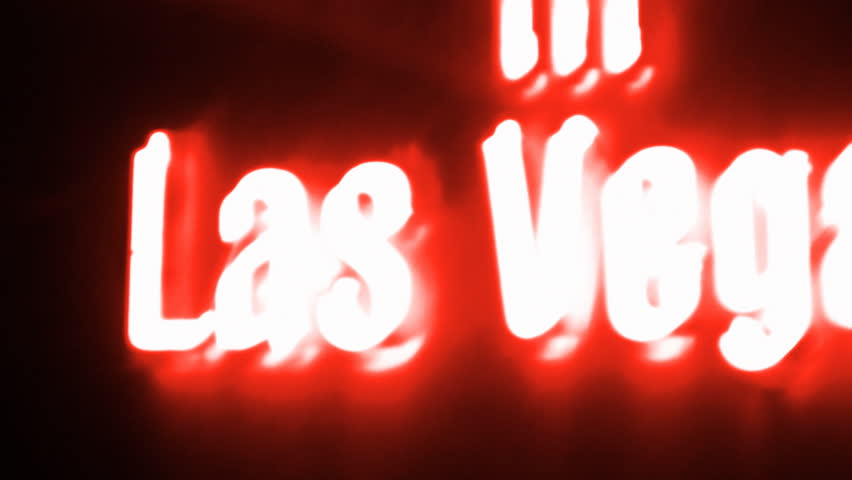 Las Vegas Red Neon Sign | Shutterstock HD Video #1759433
