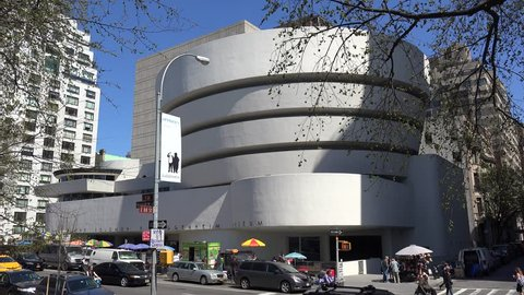 NEW YORK CITY, - APRIL 17: Solomon R. Guggenheim Museum from Fifth Avenue. April 17, 2016 in NYC, New York, USA