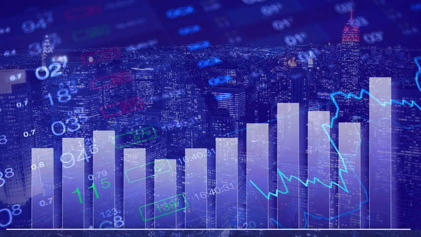Forex stock market abstract background. Finance chart, forex numbers at background of financial city. Finance concept background. Forex concept wallpaper. Business concept. Abstract numbers | Shutterstock HD Video #17622283