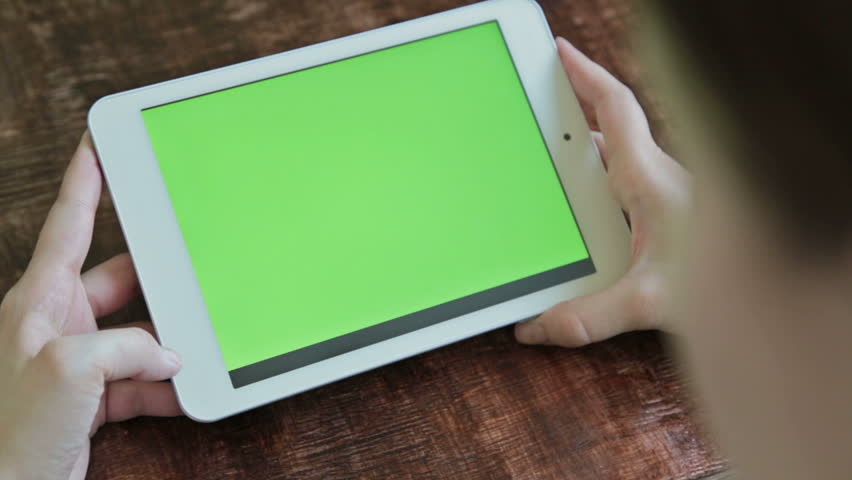 Women using digital tablet computer with green screen  | Shutterstock HD Video #17649988