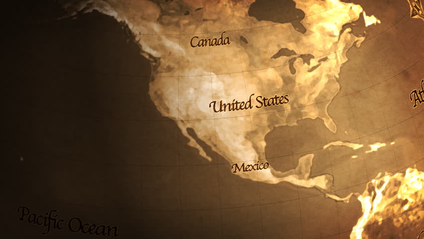 Old Globe Usa To Europe Hd Stock Footage Video 1765259 Shutterstock