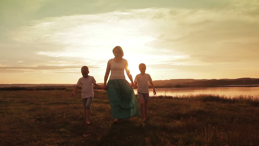 Family Walking Beach Sunset Travel Holiday Concept | Shutterstock HD Video #17667493