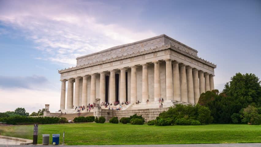 Lincoln Memorial in Washington DC, USA.
