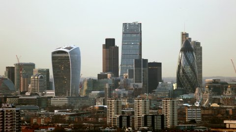 Day to Night City Of London Time Lapse Dramatic time lapse of the city as the sun sets and the lights come on all over town.