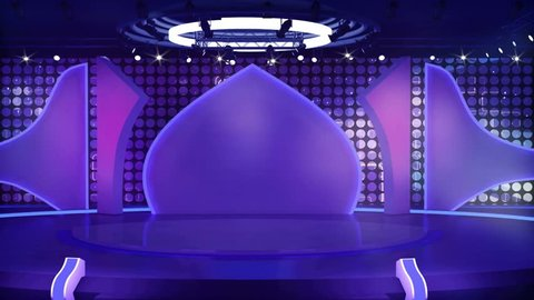 Entertainment TV Studio Set - Virtual Green Screen Background Loop