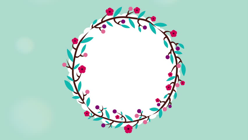 Floral Decoration floral decoration design with small flower crown , video animation
