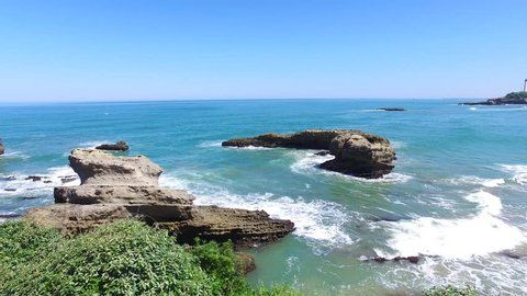 Big Beach or Grande Plage in Biarritz, Pyrenees-Atlantiques, France