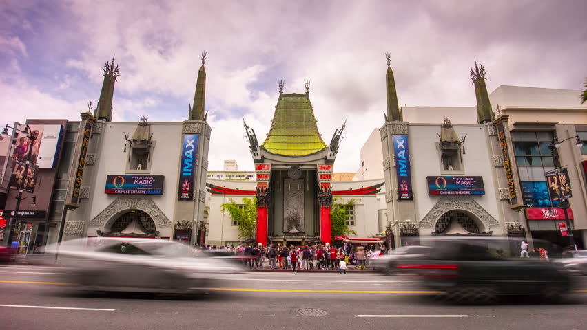 LOS ANGELES, USA - MAY 2016: famous hollywood boulevard chinese theater entrance 4k time lapse circa may 2016 los angeles, united states of america.