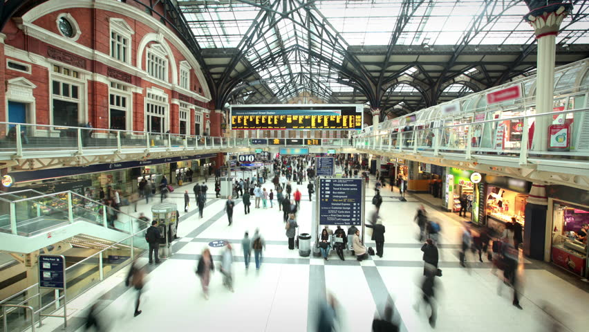 Liverpool Street Station at Rush Hour, London | Shutterstock HD Video #17867353