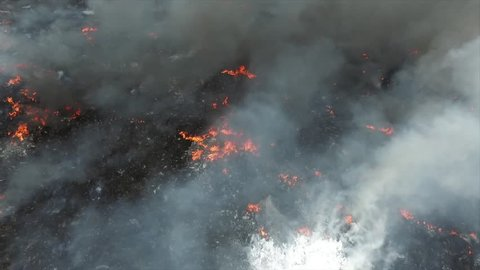 SPAIN, SESE�A, TOLEDO. 2016 May 14th. Drone views. Toxic fire at tyre dump forces to evacuate the village of Seseña. It´s the biggest illegal tyre dump of Europe