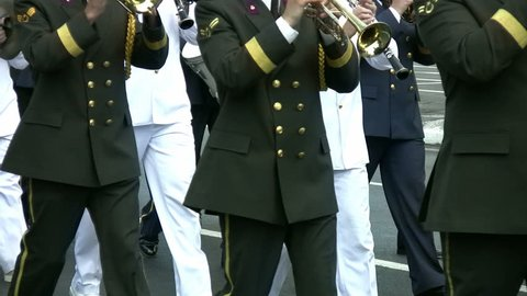 The Mixed Military Brass Band Walking The Road